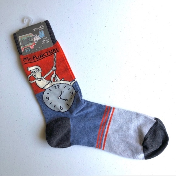 Men/'s Crew Socks Blue Q Funny Novelty Gift 7-12 Inside Sucks